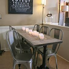 dining room dazzling metal dining room chairs farmhouse table