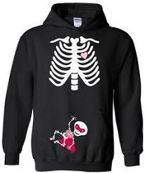 Skeleton Maternity Halloween Costumes Womens Maternity Fit Tshirt Halloween
