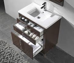 30 Inch Modern Bathroom Vanity Adornus Turin 30 Inch Walnut Modern Bathroom Vanity
