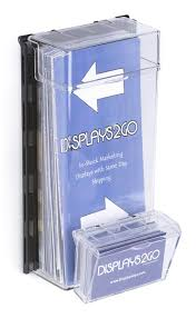 Business Card Dispenser Outdoor Leaflet Dispenser Wall Mounted With Hinged Lid