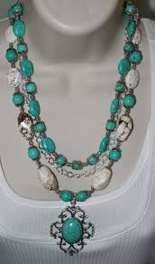 tibetan silver turquoise necklace images Western cowgirl statement necklace chunky by 123gemstones on zibbet jpg