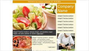 newsletter cuisine cafe restaurant email newsletter templates email newsletter
