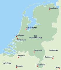 netherlands map cities netherlands map rotterdam
