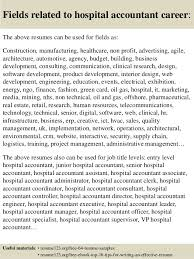Resume For Hospital Job by Top 8 Hospital Accountant Resume Samples