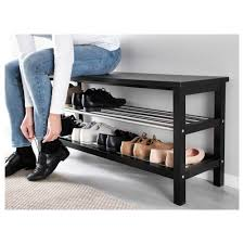 Hallway Shoe Cabinet tjusig bench with shoe storage black ikea