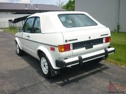 volkswagen rabbit 1985 volkswagen cabriolet 28k miles triple white original vw