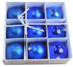 festive season blue shatterproof balls