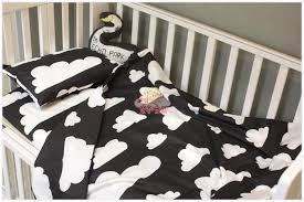 Black And White Crib Bedding Set Cotton Crib Pink Black White Gray Bedding Set Duvet Quilt Cover