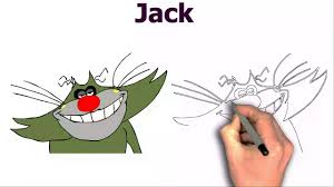 draw jack oggy cockroaches