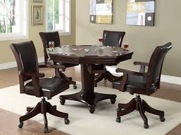 buy dark mahogany game table with octagon table top by coaster