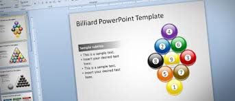 billiard powerpoint template with editable ball shapes