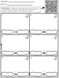 factor rainbows qr code math worksheet freebie spanish too tpt