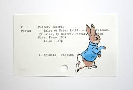 rabbit library rabbit beatrix potter print of painting of