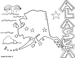 Alaska State Flag Coloring Page United States Coloring Pages Classroom Doodles