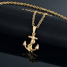 necklace pendants online images Online shop punk men 39 s necklace ocean anchor rope necklace jpg