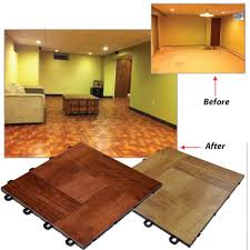 Laminate For Basement by Basement Interlocking Laminate Tiles Red Wood 27 Sq Ft