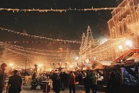 christmas snow winter xmas santa lights holidays ice night city
