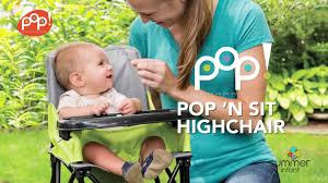 My Little Seat Infant Travel High Chair Summer Infant Pop U0027n Sit Portable Highchair Youtube
