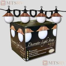 Awning Globe Lights For Camper by Tasco Rv Patio Awning String Light Set 4 White Globes W Bronze