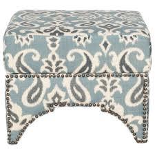 blue and white ottoman safavieh declan blue gray and off white storage ottoman mcr4639e