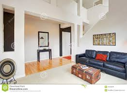 high ceilings living room ideas house interior with high ceiling living room decor stock image