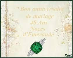 40 ans de mariage ans de mariage noces d émeraude