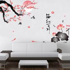 aliexpress com buy 3d plum flowers 3d wall stickers decals art aliexpress com buy 3d plum flowers 3d wall stickers decals art pattern 2017 new background bedroom pvc black pink 60 90cm from reliable pvc stereo
