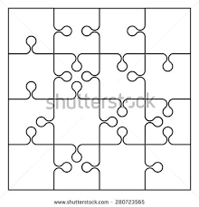 16 jigsaw puzzle blank template stock vector 280723565 shutterstock