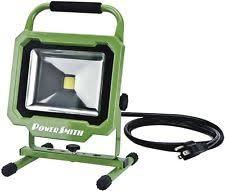 3000 lumen led work light powersmith pwl1130bs 3000 lumen led work light 30 watt ebay