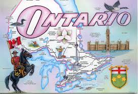 Map Of Ontario Ontario Map Remembering Letters And Postcards