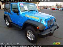 jeep islander interior surf blue pearl 2010 jeep wrangler sport islander edition 4x4