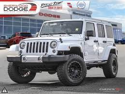 modified white jeep wrangler new used jeep wrangler for sale in edmonton autotrader ca