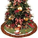 brown christmas tree large d fantix santa snowman burlap christmas tree skirt 48