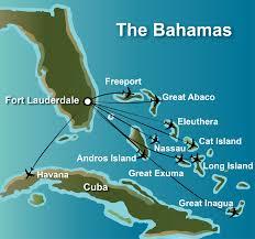 Bahama Islands Map Charters To The Bahamas And Cuba