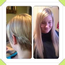 Micro Beaded Hair Extensions by Micro Bead Hair Extensions On Really Short Pink Highlights In Dark