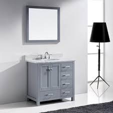 36 Inch Vanity Cabinet Virtu Usa Caroline Parkway 36 Inch Grey Single Bathroom Vanity