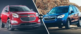 chevy equinox 2016 chevy equinox vs 2016 subaru forester