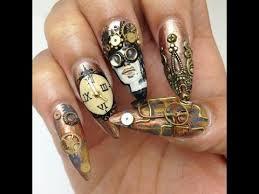 creative nail design steunk nail designs creative nails