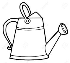 royalty free coloring pages coloring page outline of a gardening watering can royalty free