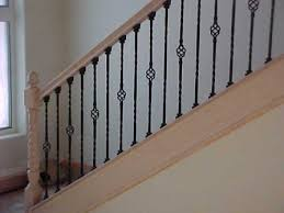 Metal Banister Spindles Staircase Banitster How Much Lowes Railing Install House