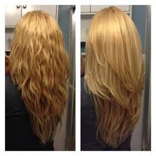 front and back views of chopped hair long layered v cut haircuts front view google search hair