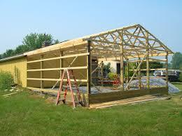 robert u0027s projects how to make a pole barn style garage look like
