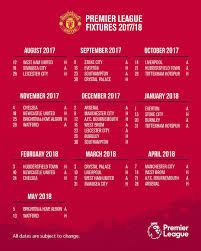 afc dealer floor plan a reminder of our full fixture list for the 2017 18 premierleague