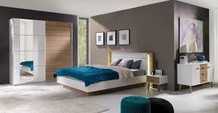 Komplett Schlafzimmer Mit Boxspringbett Komplett Schlafzimmer Arturo Weiß Wildeiche Möbel Für Dich