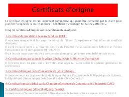 chambre de commerce certificat d origine procédures à l exportation ppt télécharger