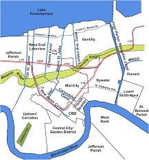 Districts Of New Orleans Map by Development Of The New Orleans Flood Protection System Prior To