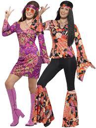 halloween hippie costume ladies hippie hippy flares top costume 60s 70s fancy dress