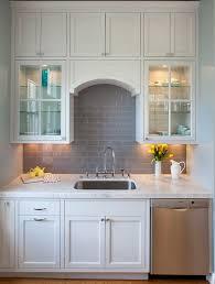Kitchen Backsplash White Cabinets by Contemporary Backsplash Tile Photo 1 Beautiful Pictures Of