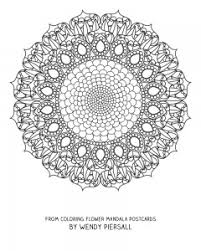 coloring flower mandala postcards coming wendypiersall