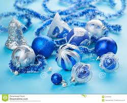 blue decorations still royalty free stock photo